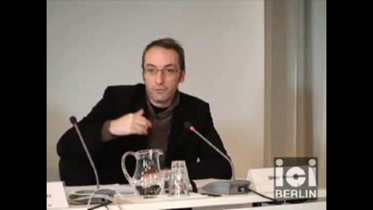 Talk by Didier Debaise / 2