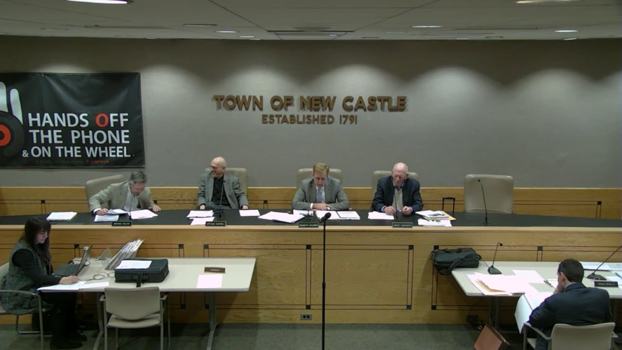 Town of New Castle Zoning Board Meeting 12/17/18