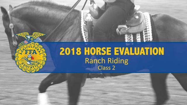 2018 Horse – Class 2 Ranch Riding