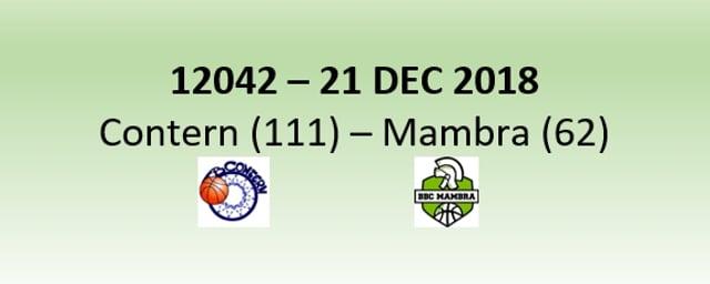 N2H 12042 AB Contern (111) - Mambra Mamer (62) 21/12/2018