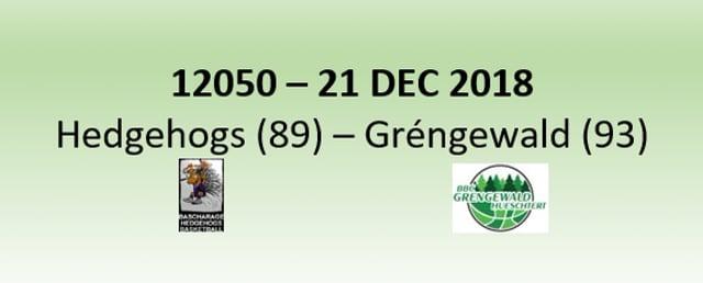 N2H 12050 Hedgehogs Bascharage (89) - Grengewald Hueschtert (93) 21/12/2018