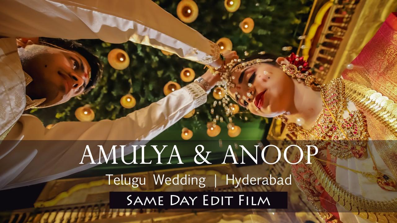 Amulya Anoop Telugu Wedding Same Day Edit   Hyderabad
