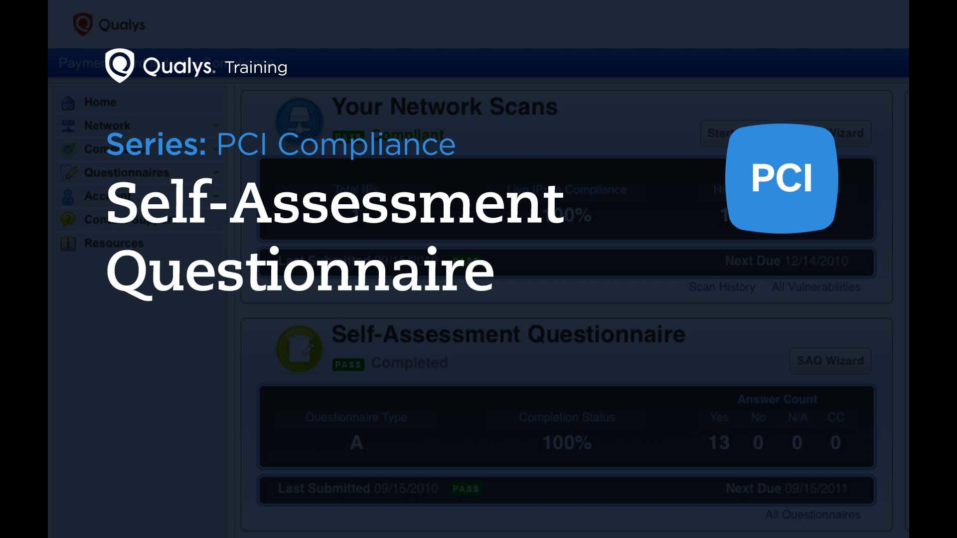 Self-Assessment Questionnaire