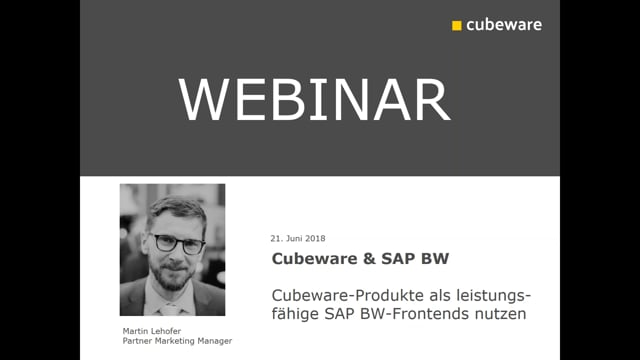 Cubeware & SAP BW