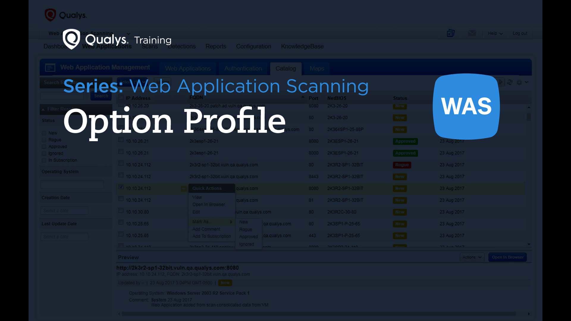 Option Profile