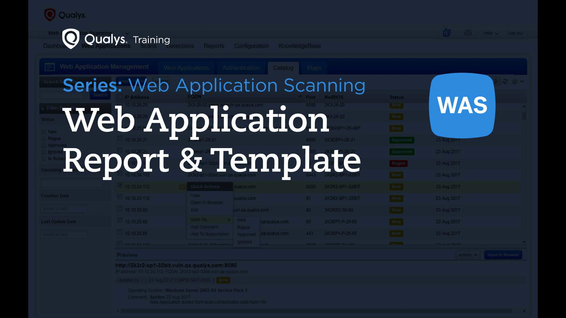 Web Application Report and Template