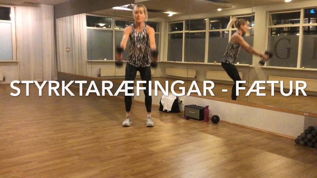 STYRKTARÆFINGAR - FÆTUR