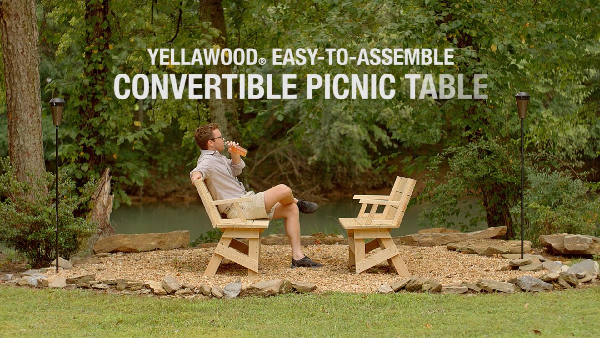 Convertible Picnic Table