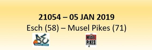 N1D 21054 Basket Esch (58) - Musel-Pikes (71) 05/01/2019