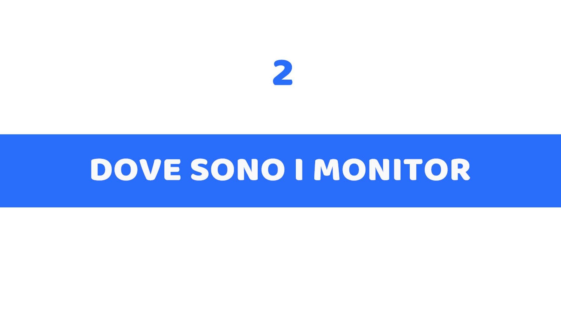 2 - DOVE SONO I MONITOR