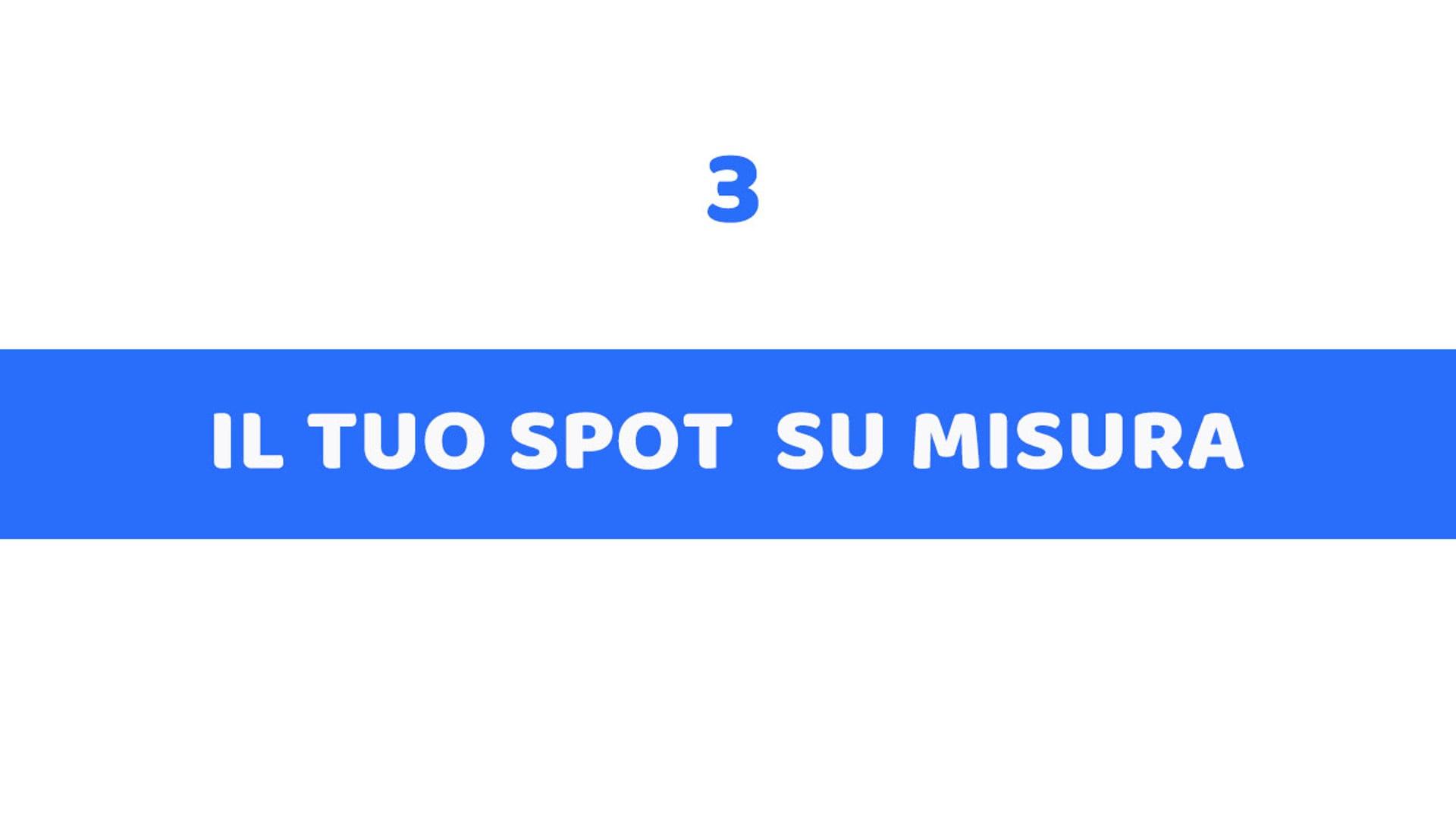 3 - IL TUO SPOT SU MISURA