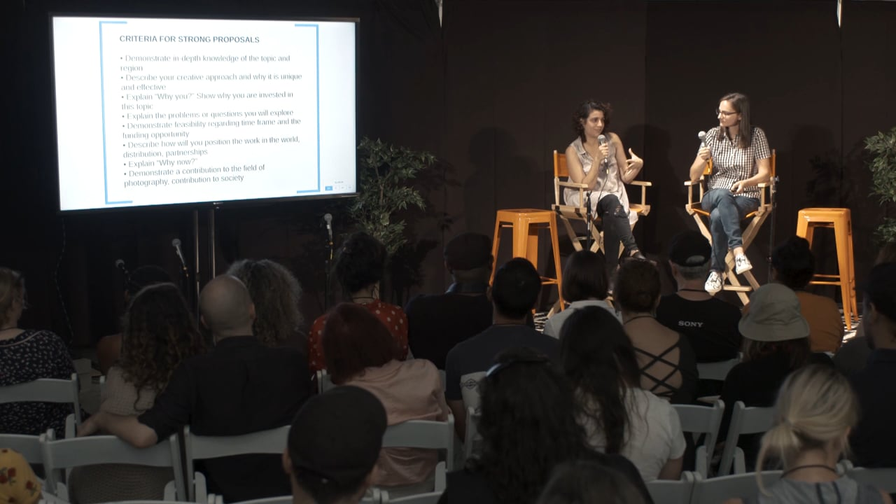 The Art of the Pitch: Preparing and writing proposals, grants, and more –Photoville 2018