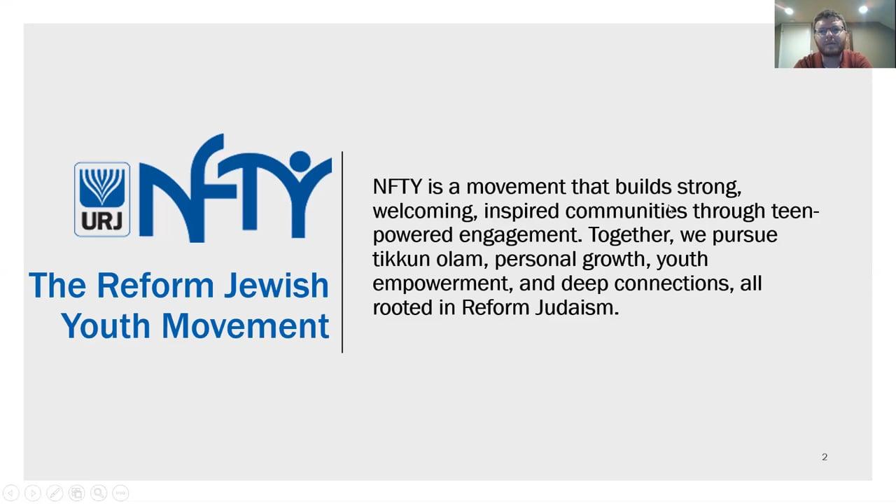 NFTY & Hatikvah Parent Info Session