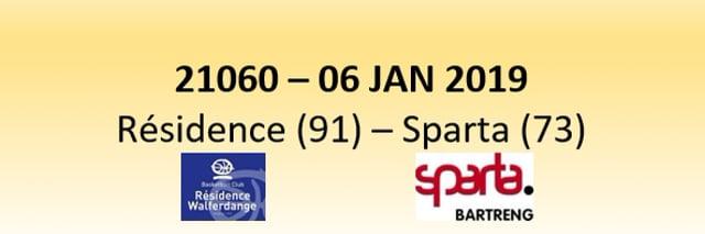 N1D 21060 Résidence Walferdange (91) - Sparta Bertrange (73) 06/01/2019
