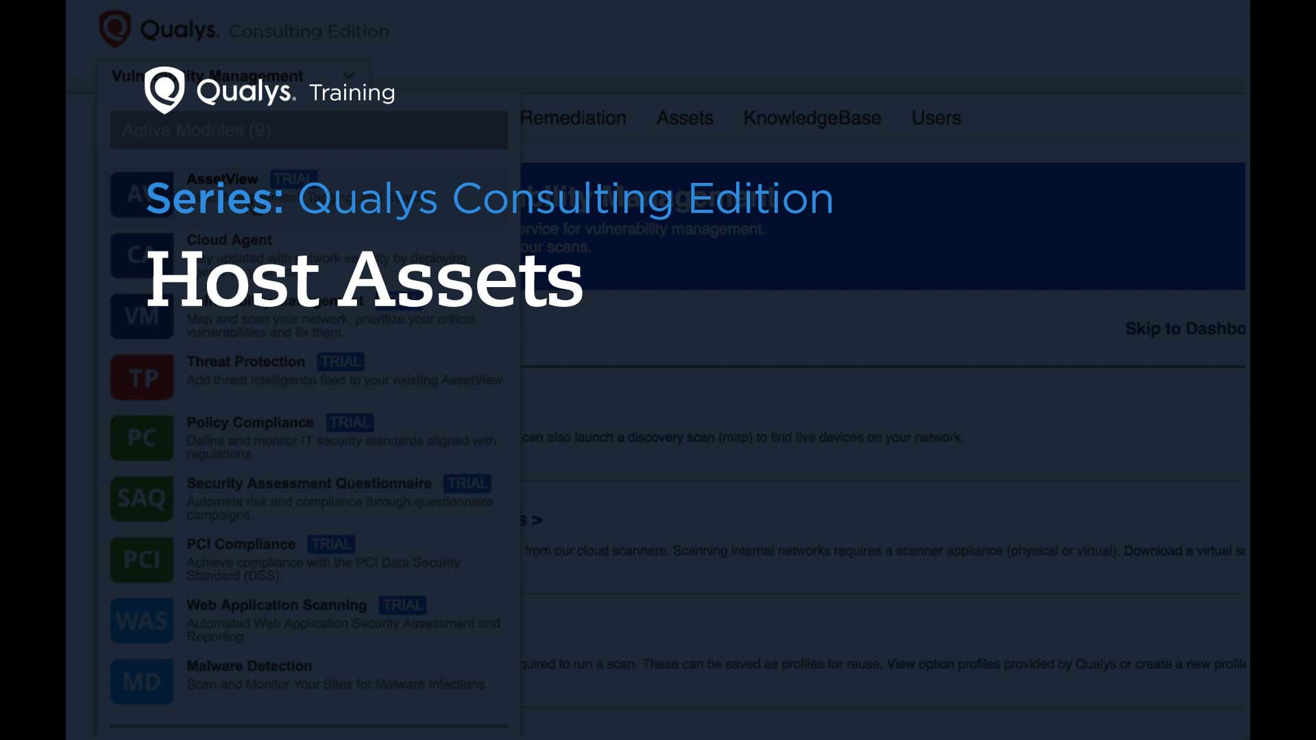 Host Assets - Qualys Consulting Edition