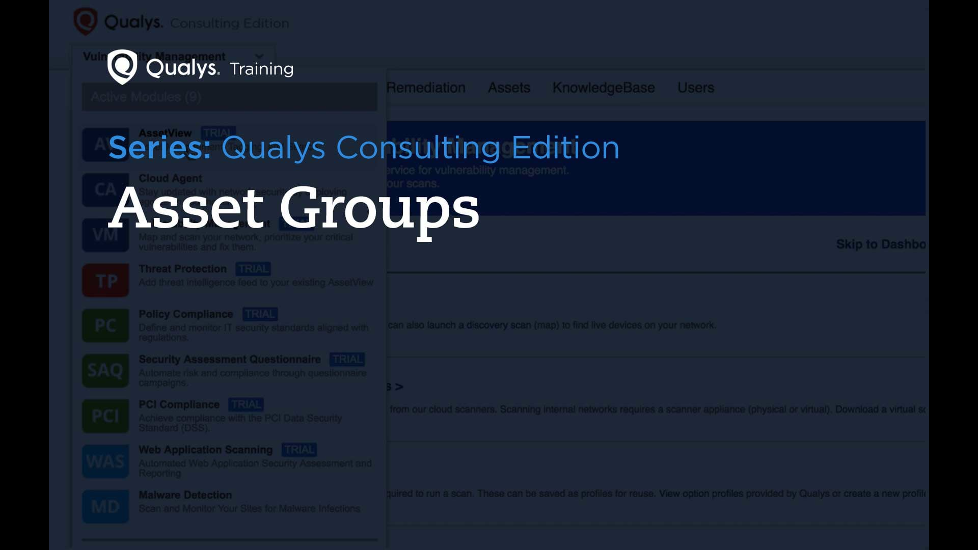 Asset Groups - Qualys Consulting Edition