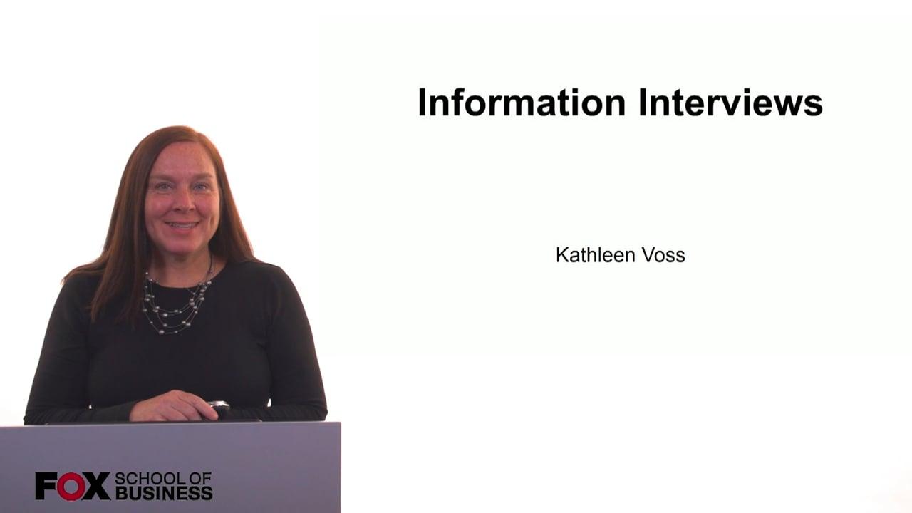 61257Information Interviews