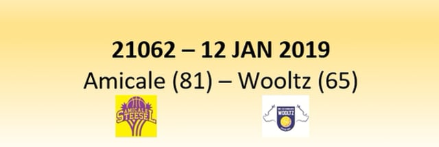 N2D 21062 Amicale Steinsel (81) - Les Sangliers Wooltz (65) 12/01/2019