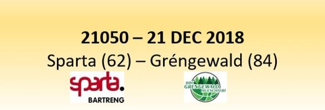 N1D  21050 Sparta Bertrange (62) - Gréngewald Hueschtert (84) 21/12/2018