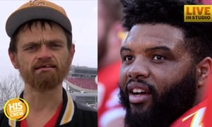 Homeless Man Helps Stuck Driver, Turns Out to be NFL Player