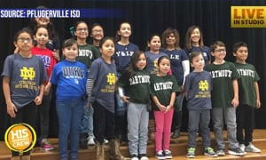 Third Grade Teacher Gets Colleges to Donate T-Shirts for Kids