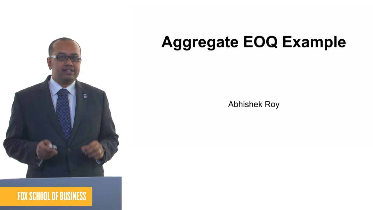 61261Aggregate EOQ Example
