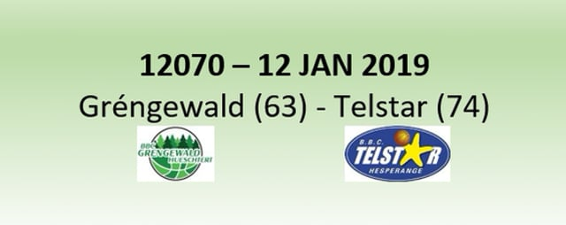 N2H 12070 Grengewald (63) - Telstar (74) 12/01/2019