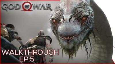 We Meet the WORLD SERPENT! - God Of War Walkthrough EP.5