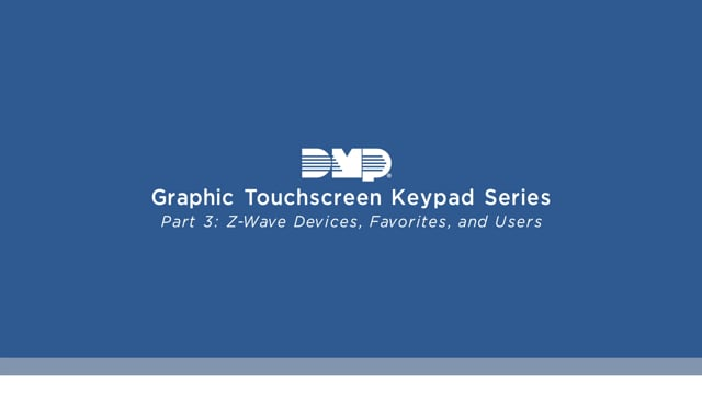 Graphic Touchscreen Keypad Video Series Part 3