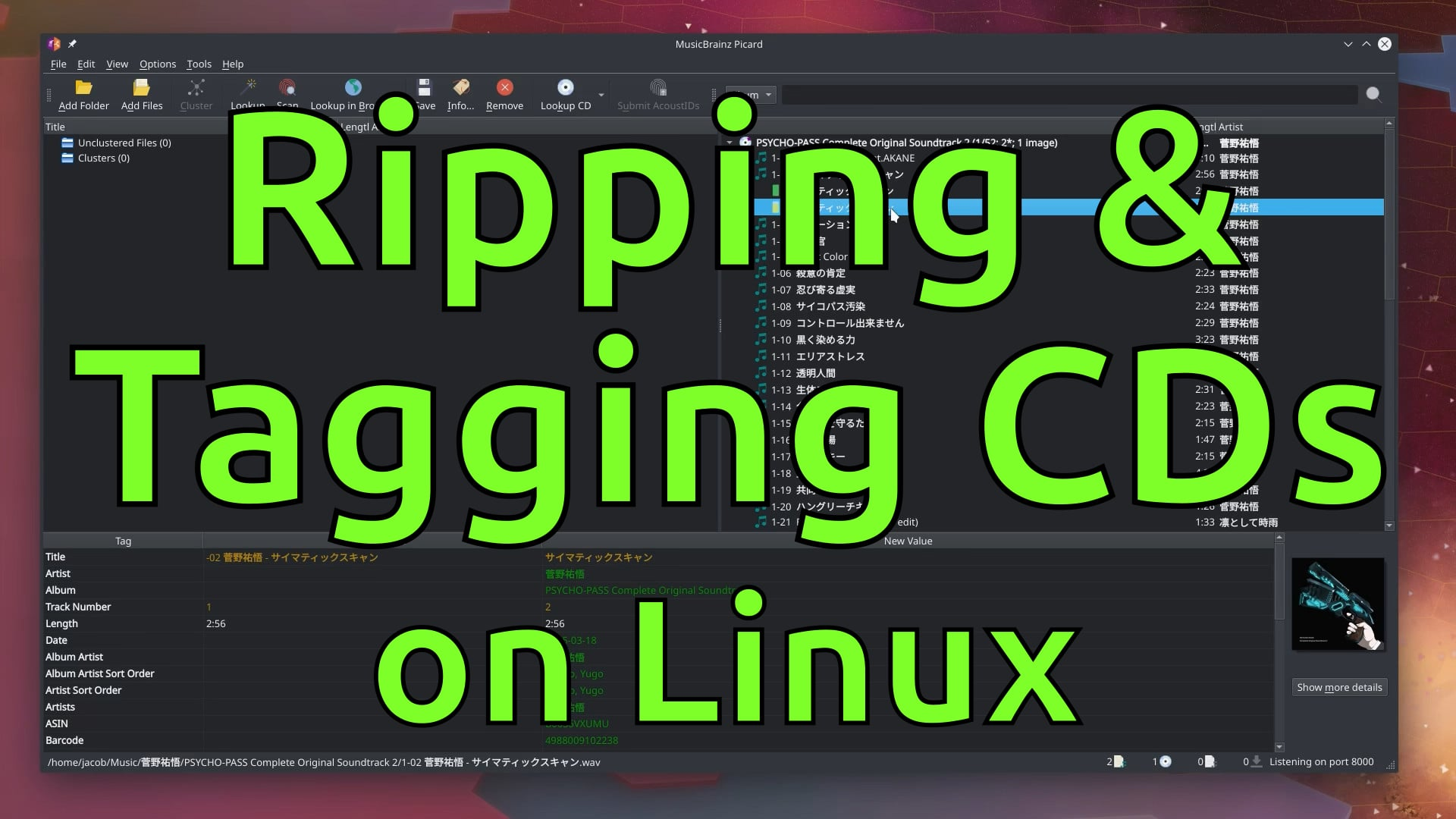 Ripping & Tagging CDs on Linux
