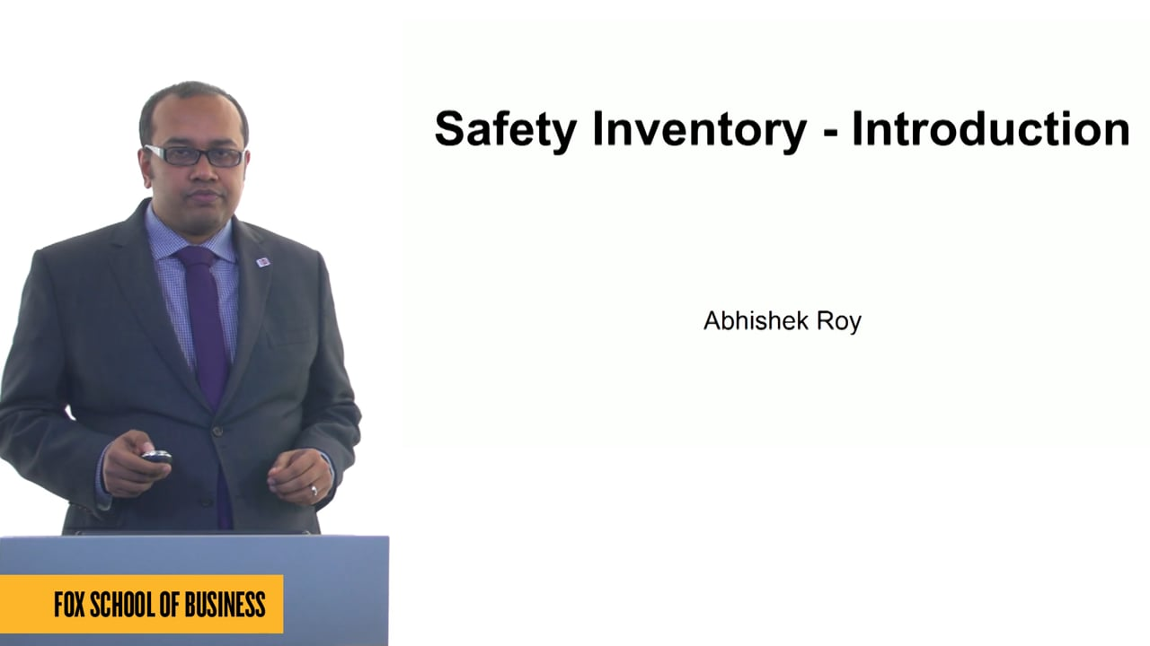 61249Safety Inventory – Introduction