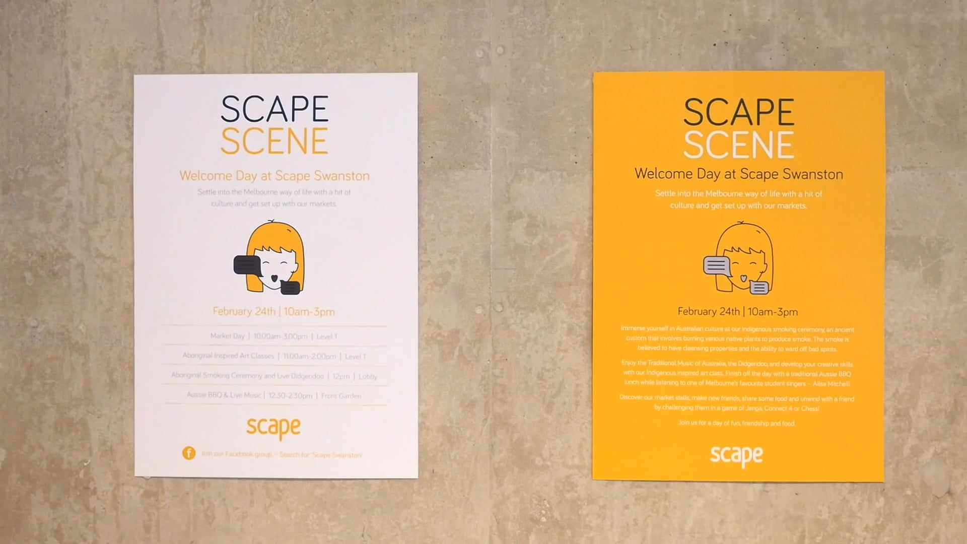 Scape Swanston - Welcome Day