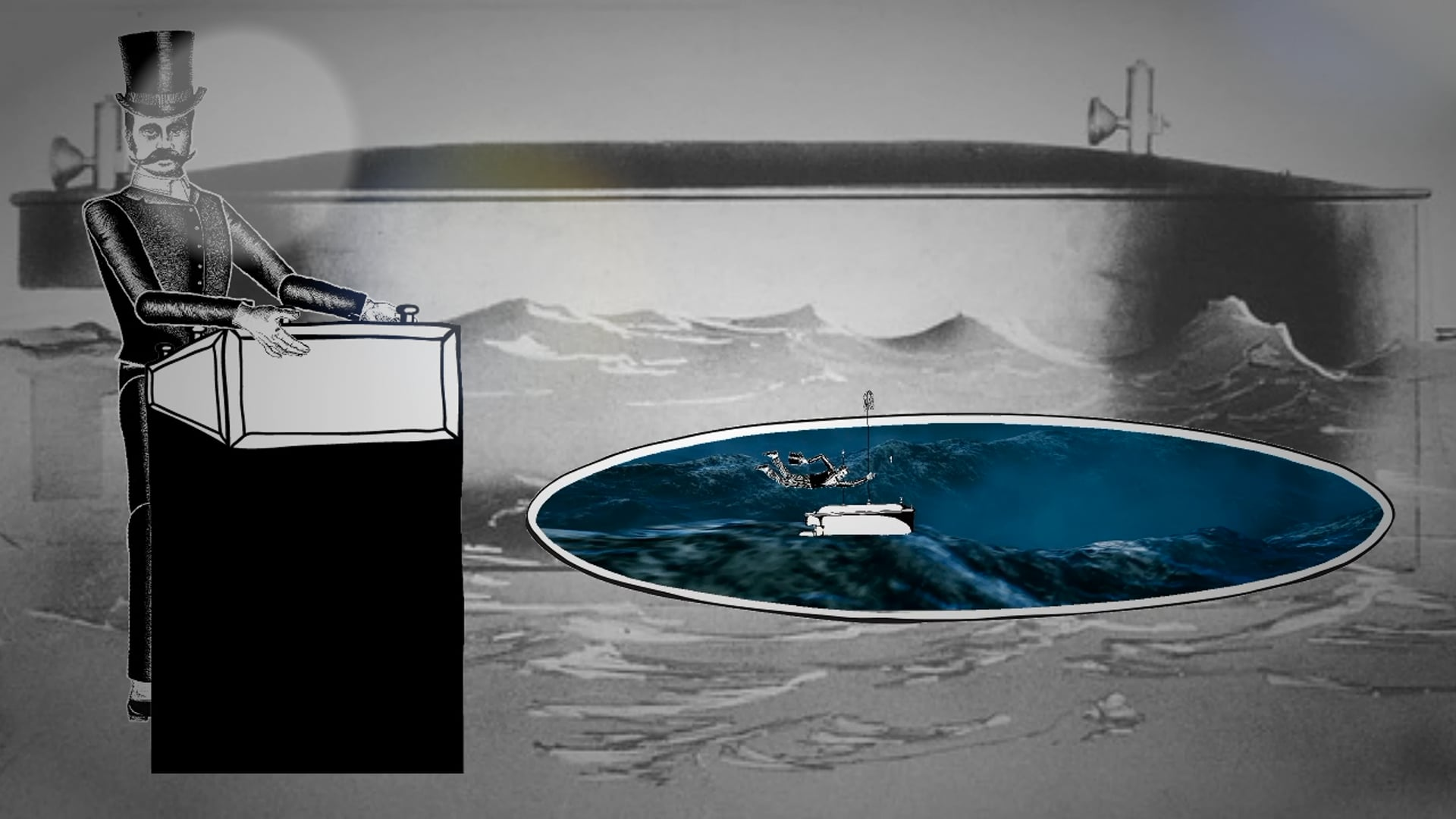 DIORAMA_REMOTE CONTROL BOAT - interactive touch screen animation loop