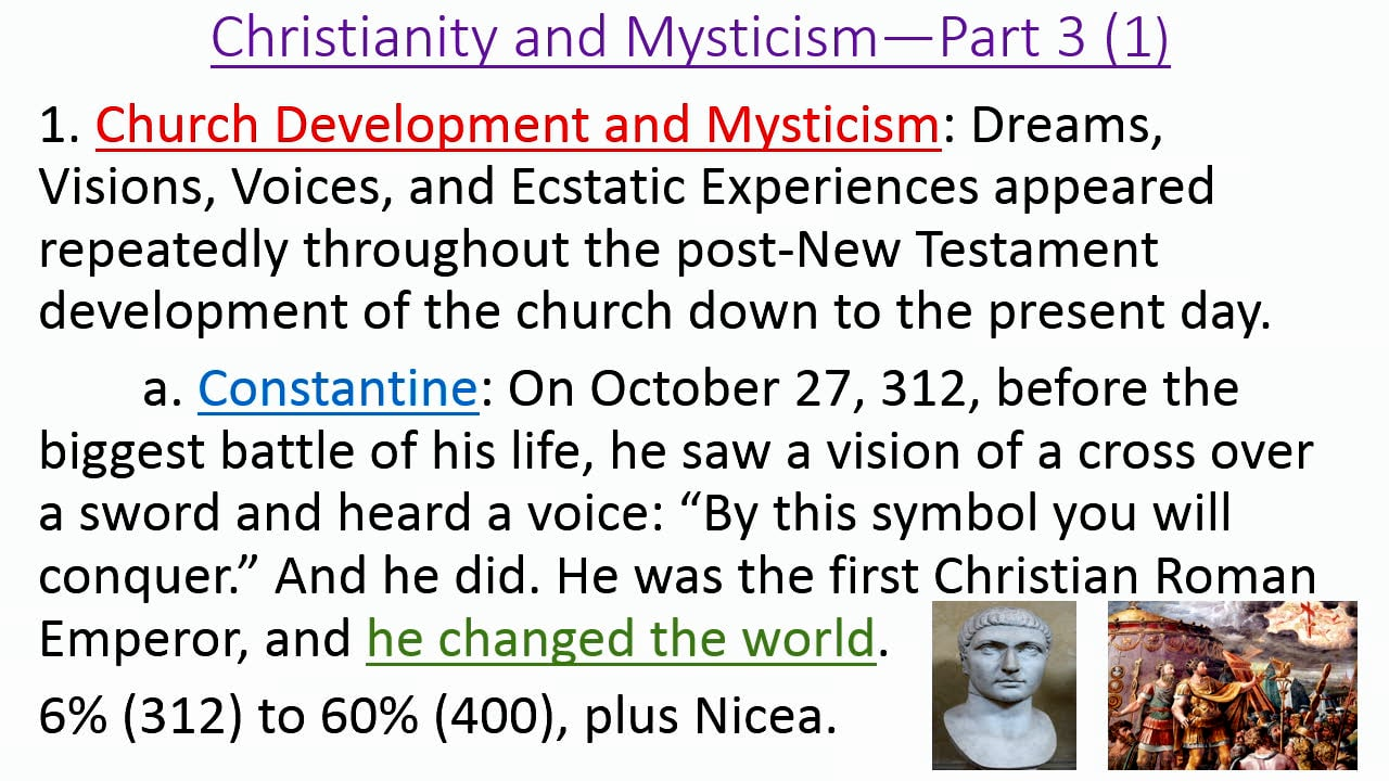 Mysticism in the Christian Faith: Mysticism in Christian History