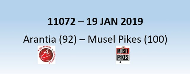 N1H 11072 Arantia Larochette (92) - Musel Pikes (100) 19/01/2019