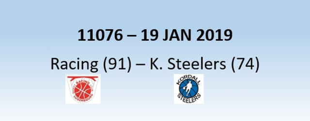 N1H 11076 Racing Luxembourg (91) - Kordall Steelers (74) 19/01/2019