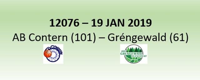 N2H 12076 AB Contern (101) - Gréngewald Hueschtert (61) 19/01/2019
