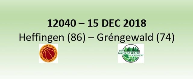 N2H 12040 Heffingen (86) - Grengewald (74) 15/12/2018