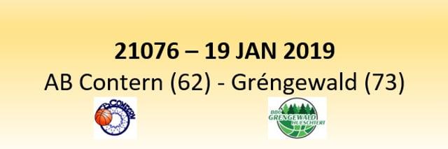 N1D 21076 AB Contern (62) - Gréngewald Hueschtert (73) 19/01/2019