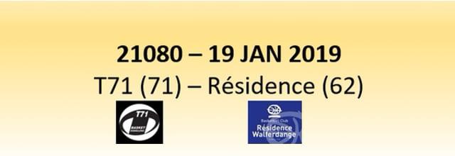 N1D 21080 T71 Dudelange (71) - Résidence Walfer (62) 19/01/2019