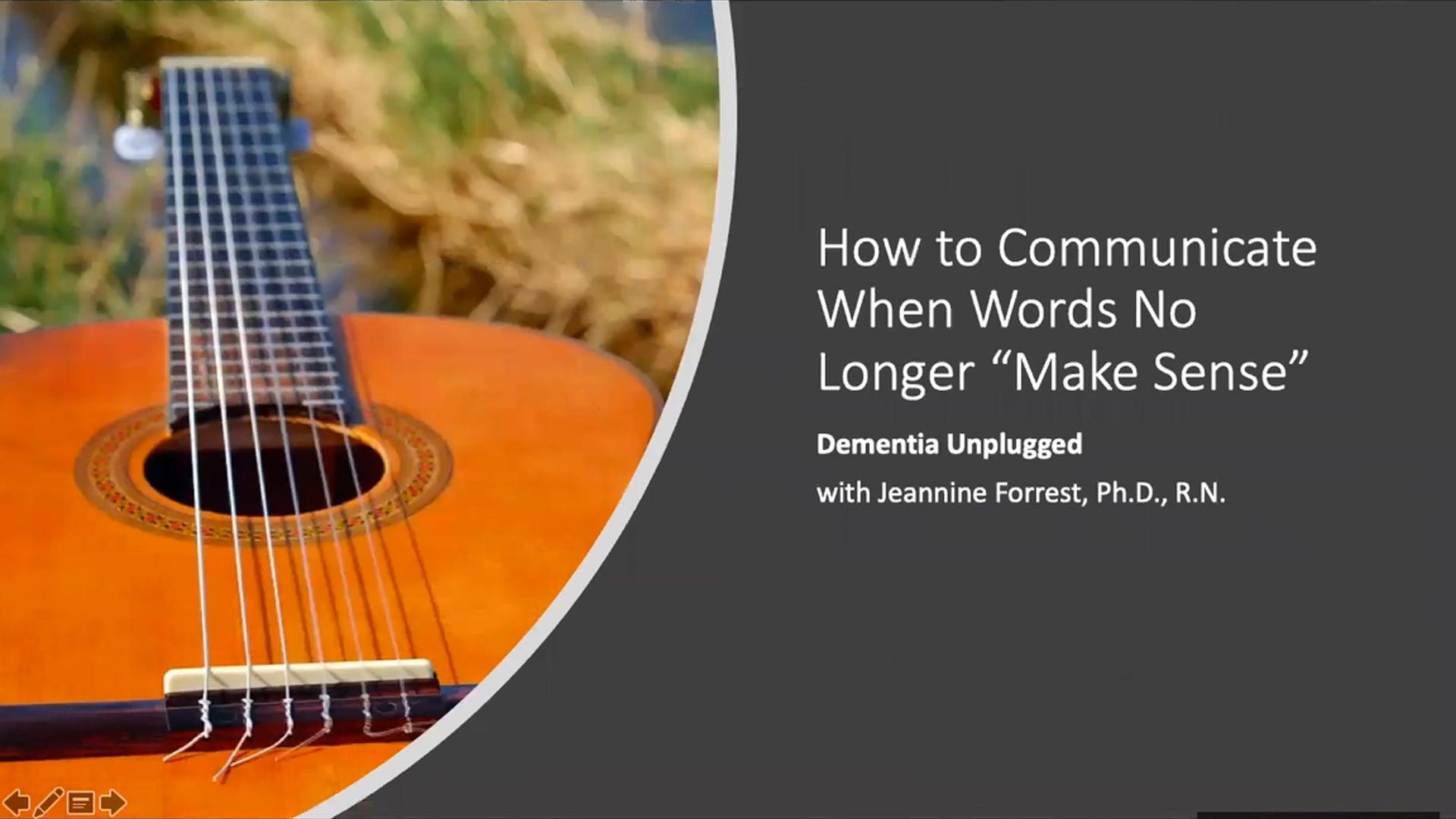 How to Communicate When Words No Longer Make Sense