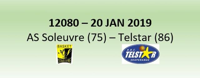 N2H 12080 AS Soleuvre (75) - Telstar Hesperange (86) 20/01/2019