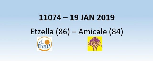 N1H 11074 Etzella Ettelbruck (86) - Amicale Steinsel (84) 20/01/2019