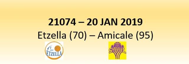 N1D 21074 Etzella Ettelbruck (70) - Amicale Steinsel (95) 20/01/2019