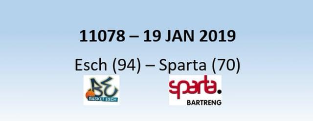 N1H 11078 Basket Esch (94) - Sparta Bertrange (70) 19/01/2019