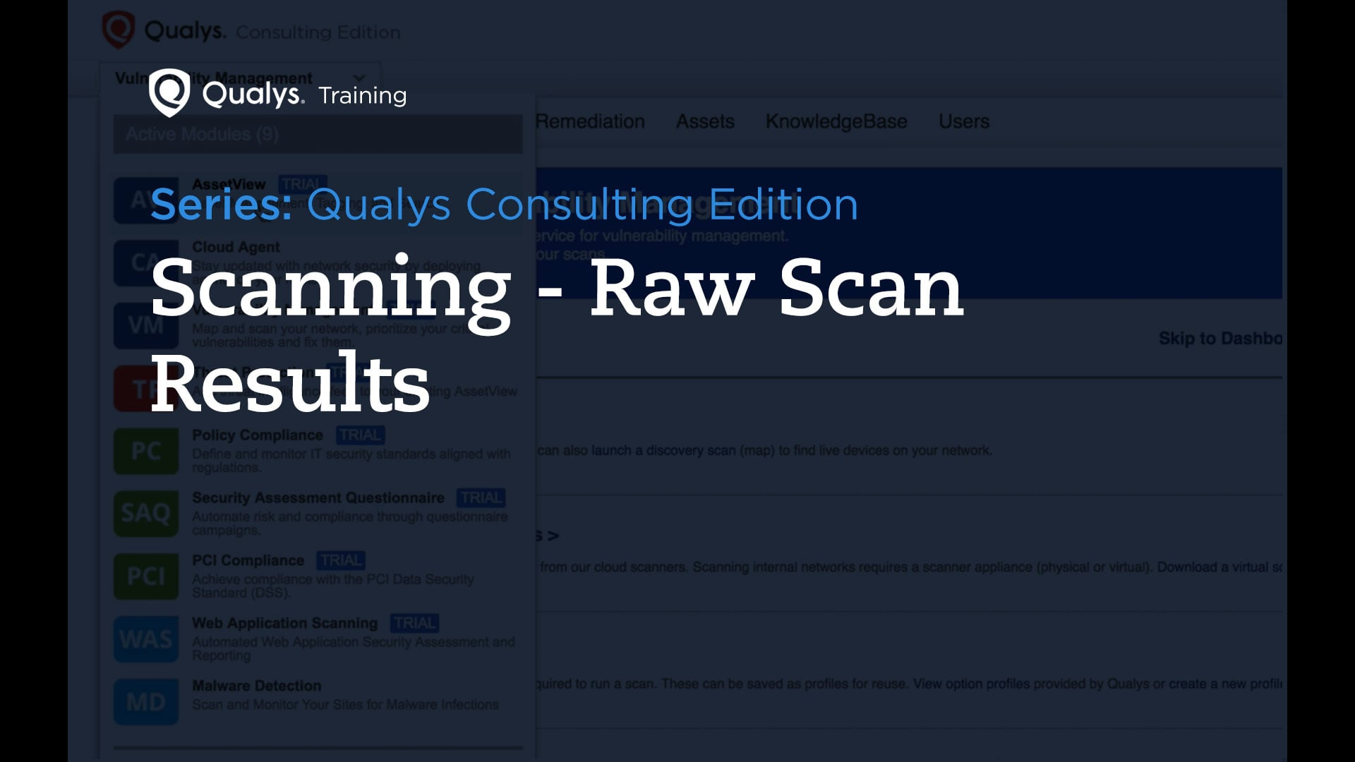 Scan Results - Qualys Consulting Edition