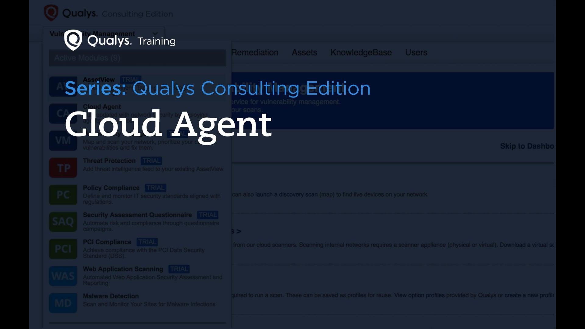 Cloud Agent - Qualys Consulting Edition