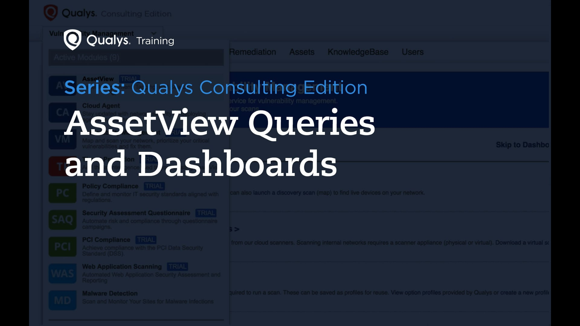 AssetView Queries and Dashboards - Qualys Consulting Edition
