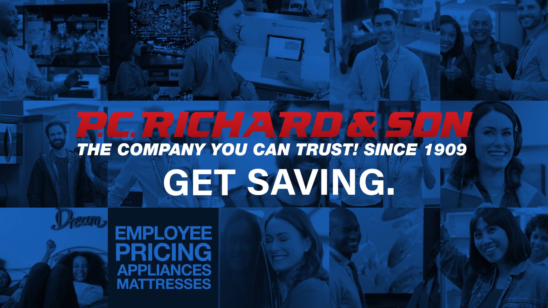 PC Richard & Sons - Employee Pricing Appliance :30