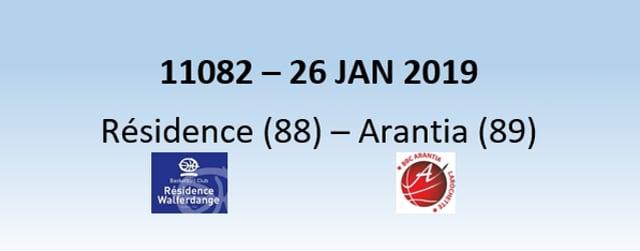 N1H 11082 Résidence Walferdange (88) - Arantia Larochette (89) 26/01/2019